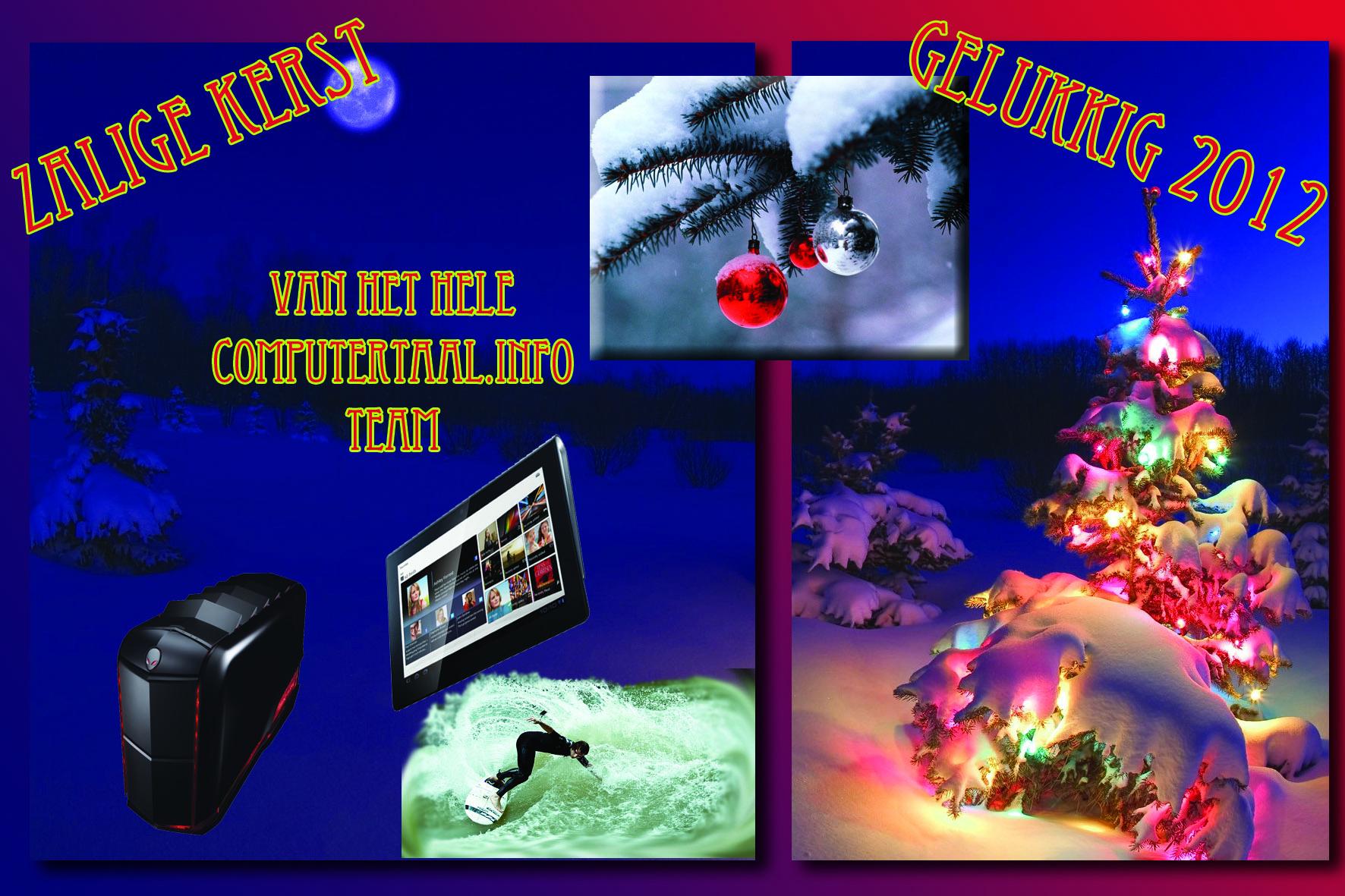 Zalige Kerst En Gelukkig Nieuwjaar Computertaal