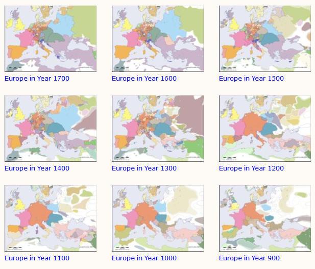 Geschiedenis Van Europa In Kaarten Vanaf Jaar 1 Tot 2000